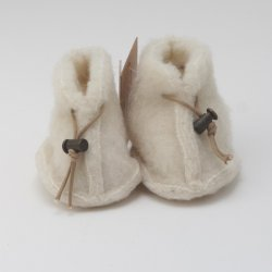 White Wool Baby Booties