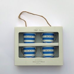 Egg Cup Pail - Blue & White - x4
