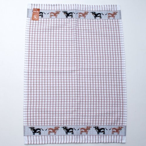 Polidri Brown Cow Tea Towel