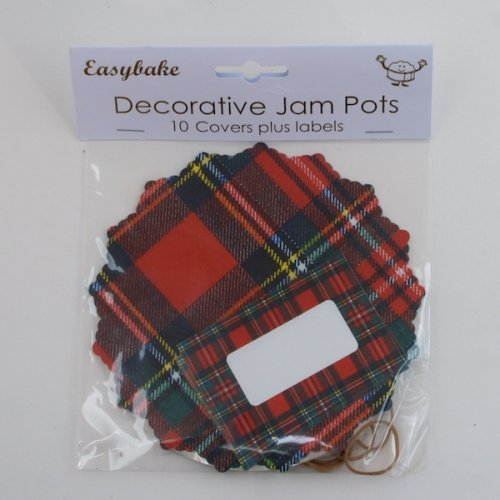 Jam Pot Covers - Tartan