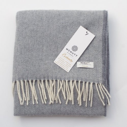 McNutt of Donegal Irish Cashmere Wool Scarf - Grey