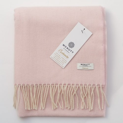 McNutt of Donegal Irish Cashmere Wool Scarf/Wrap - Baby Pink