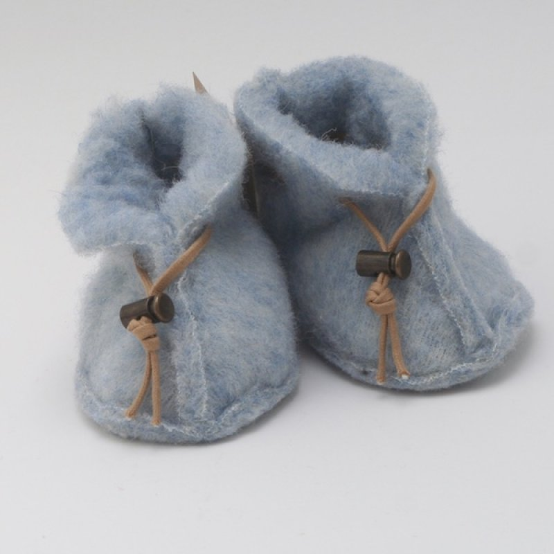 Blue Wool Baby Booties