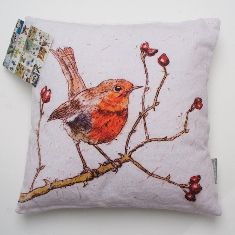 Annabel Langrish Robin Cushion
