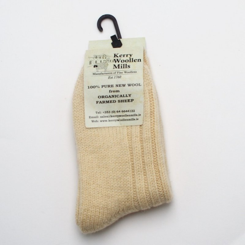 Kerry Woollen Mill Socks - Natural
