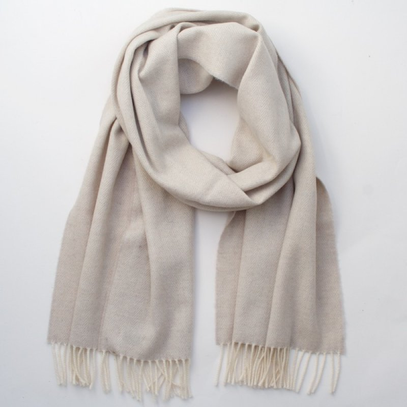 McNutt of Donegal Irish Cashmere Wool Scarf/Wrap - Linen