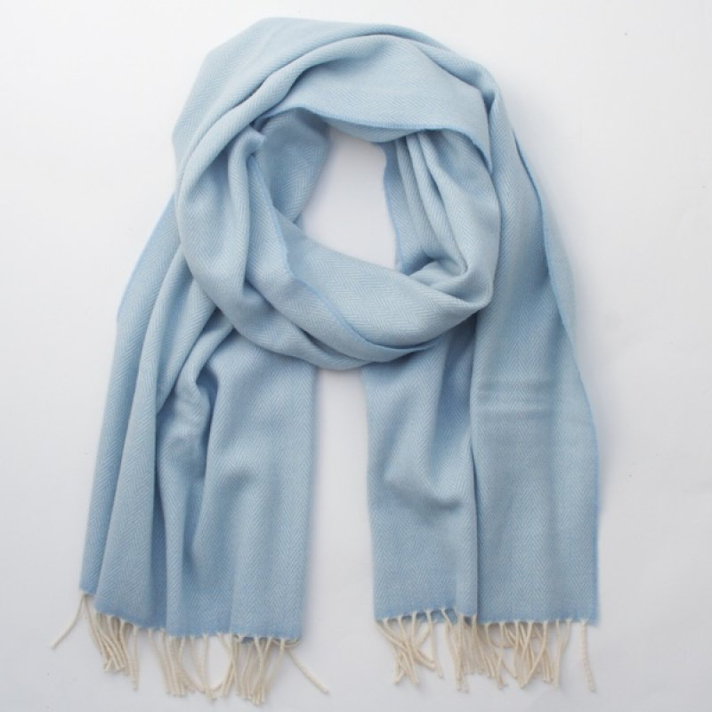 McNutt of Donegal Irish Cashmere Wool Scarf/Wrap - Baby Blue